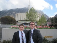 Elder Findlay and companion Elder Lamaroux