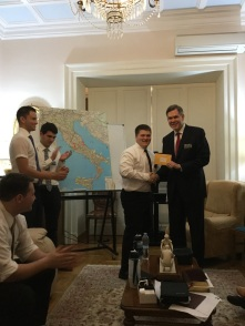 Tyler's mission president giving him his first assigned area
