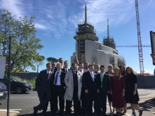 With the new missionaries at the Rome Temple Site