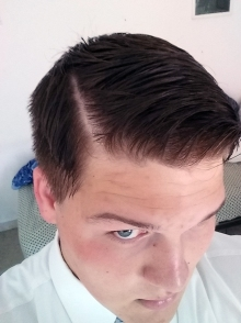Got my hair cut, but in Italy they cut your hair how they want, I ended up with a Riga along my part which is where they shave a line into your head