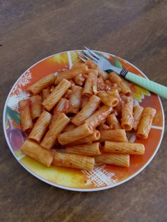 A dank red sauce pasta I made.