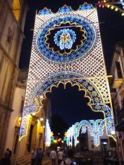 Ferragosto lights in Mistretta