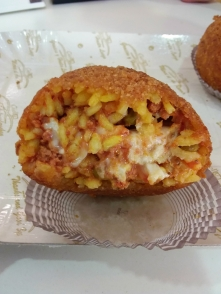 The inside of heaven...I mean an Arancina
