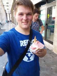 Me at Brioscia with some gelato