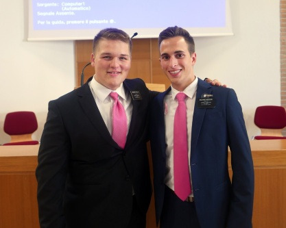 With his companion Elder Moscon