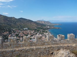 View from the top of the Cefalù castle