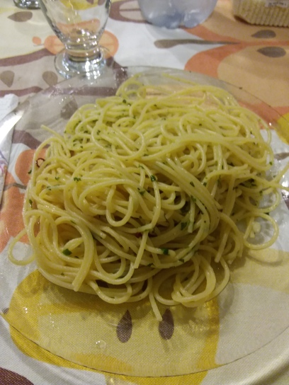 A really good pasta I had with peperoncini and another spice I don't remember the name of