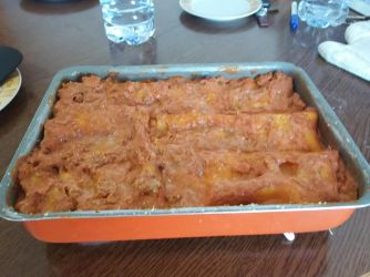 A lasagna I made with Anziano Fryer (it was really good, whoever said missionaries can't cook well has obviously never been to the Italy Rome Mission)