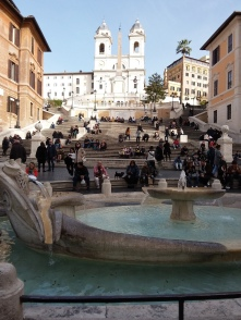 The Spanish steps at piazza Spagna