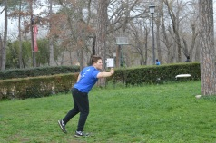 Playing Ultimate Frisbee