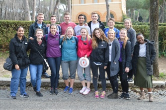 Playing Ultimate Frisbee with Rome Missionaries