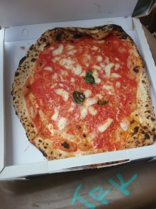 This is a pizza I had in Napoli. Da Michele's arguably the best Margherita pizza in the world (cheese pizza for you all that don't understand real pizza) it was really good, however we had it like right after the place opened, so it gets even better.