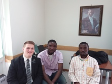 Our 2 Nigerian investigators came to church