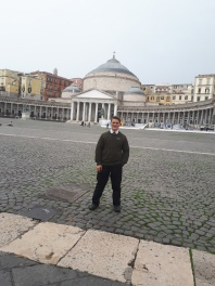 Me and a big famous building in Napoli