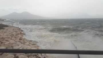 Stormy photo of Vesuvio